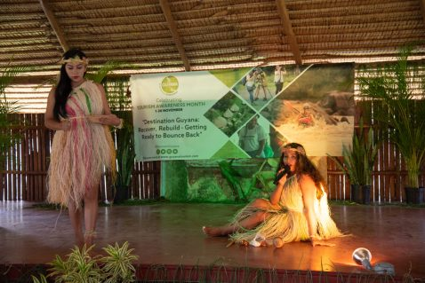 Representatives of Wakapau tell a captivating story, while introducing their community as a prime tourist destination during the launching ceremony