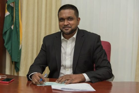 Minister of Local Government and Regional Development, Hon. Nigel Dharamlall