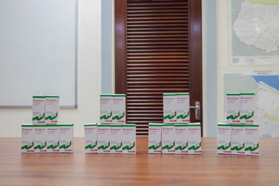 The donated batch of 100 vials of Remdesivir