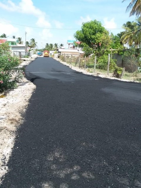 Road repairs in progress at Affiance