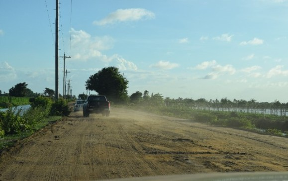 The present condition of the Cane Grove access road