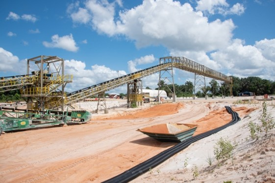 Scenes from the Minister of Natural Resources, Hon. Vickram Bharrat's tour of the Bonasika Bauxite Project