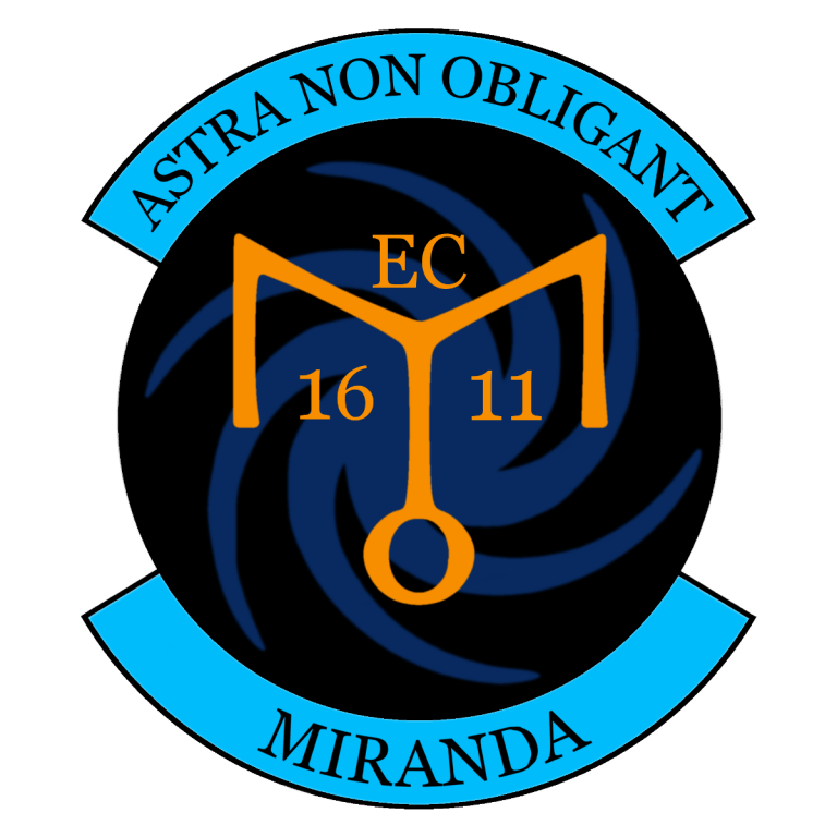Earth Union insignia of the trading ship Miranda