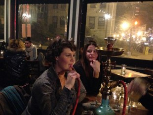When night falls, they gather from around the world to create a foggy atmosphere; they gather around the Hookah.