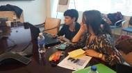 Doa and Rana editing a photo essay