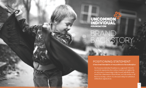 Uncommon Individual Foundation's Brand BackStory™ cover