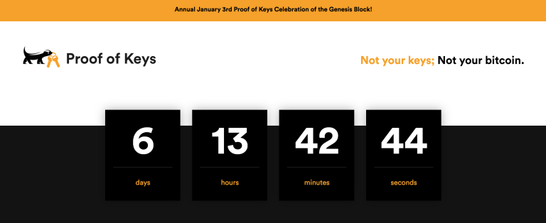 Annual January 3rd Proof of Keys Celebration of the Genesis Block!