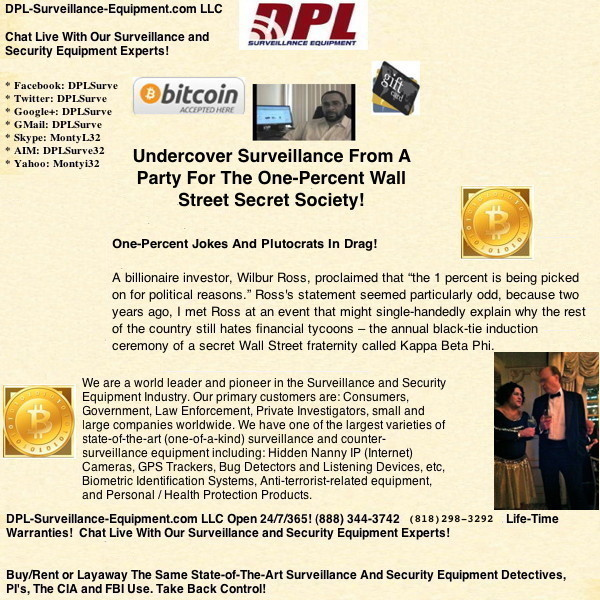 Undercover Surveillance From A Party For The One-Percent Wall Street Secret Society! (#GotBitcoin?)