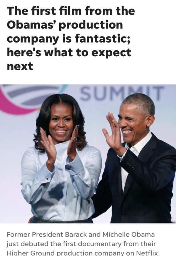 The First Film From The Obamas' Production Company Is Fantastic!