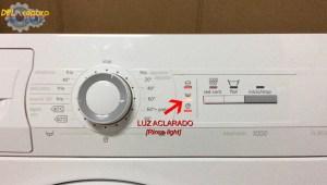 Parpadea luz aclarado lavadora Balay