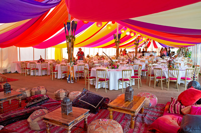 Multi Coloured Dp Marquees Dorset Party Hire