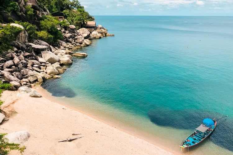 koh tao beaches: mango bay