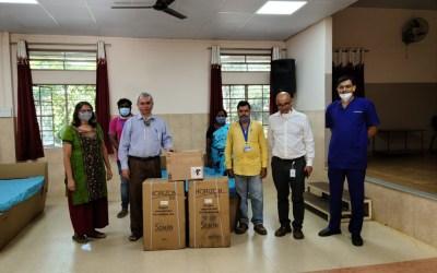 DPM Donates to a newly opened slum area in Bengaluru