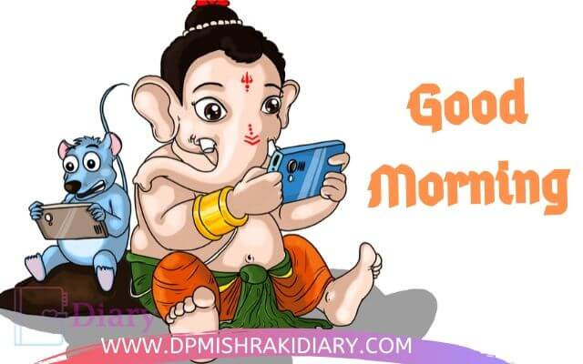good morning god bless images Ganesha