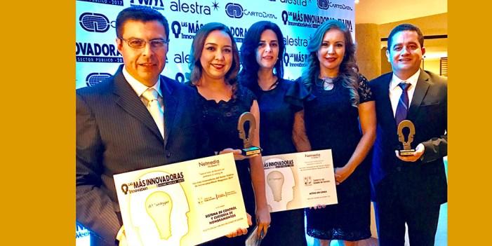 Recibe Sonora premio nacional de innovación tecnológica