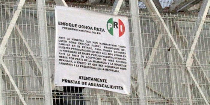 Rechaza PRI autoría en protesta contra Meade