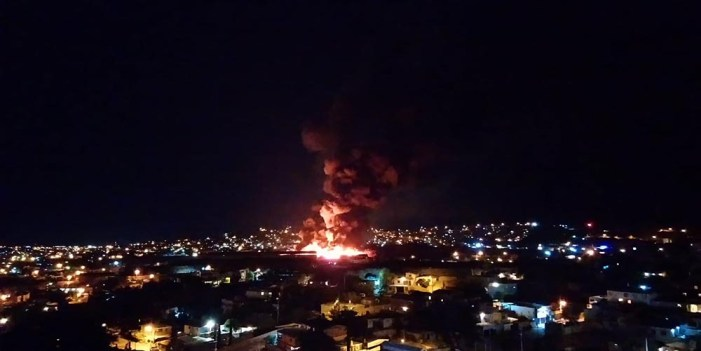 "Se incendia ""tarimera"" en terrenos de la familia Pujol"