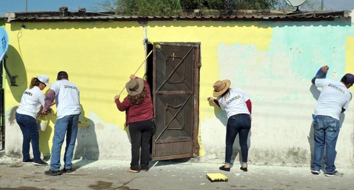 Rescatan fachadas de viviendas en Tecoripa, Sonora