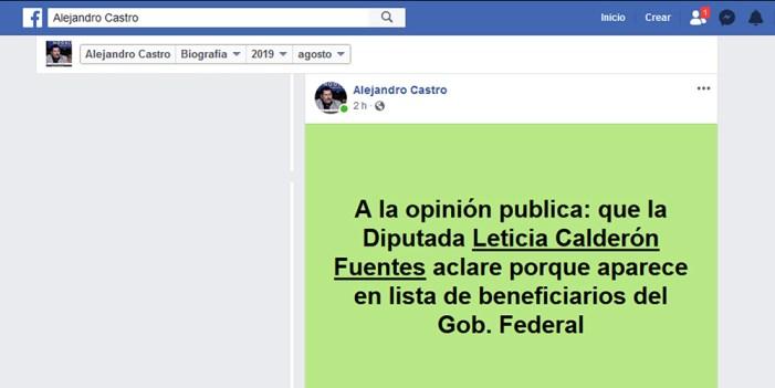 Alejandro Castro Sandoval; en pleno canibalismo político