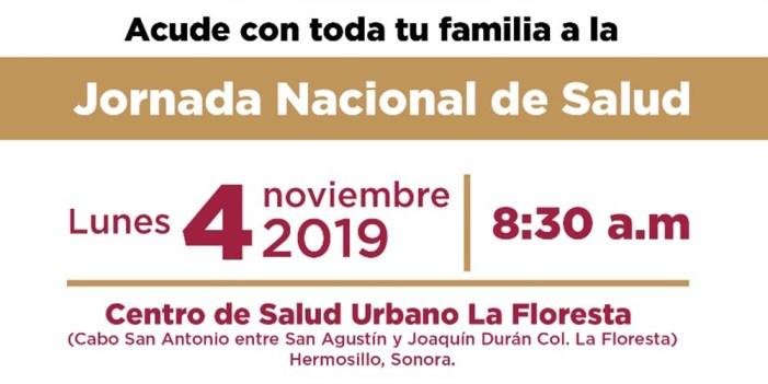 Iniciará Jornada Nacional de Salud 2019