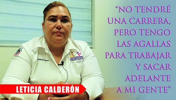 Al de casa también hay que gritarle: Leticia Calderón