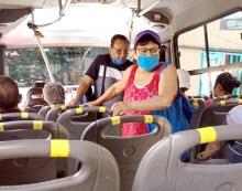 Dirección de transporte exhorta a usuarios portar cubrebocas