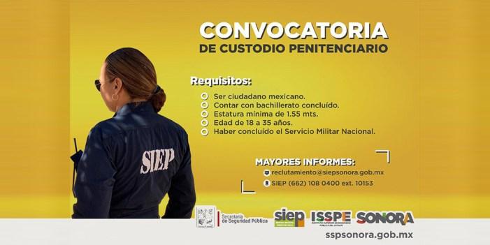 Buscan guardias de seguridad para Ceresos de Sonora