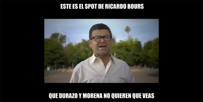 Censuran spot de Ricardo Bours