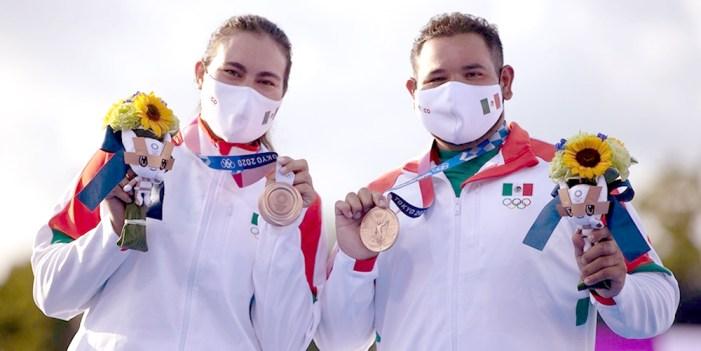 Alejandra Valencia y Luis Álvarez conquistas Bronce para México