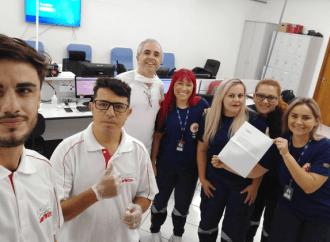 Empório da Pizza entra na corrente de solidariedade e faz doação ao SAMU de PG