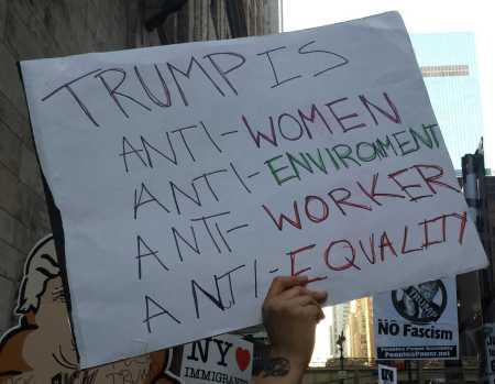 Trump is anti-women, anti-environment, anti-worker, anti-equality