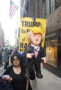 Paper mache Trump