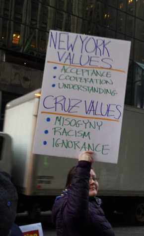 New York values: acceptance, cooperation, understanding. Cruz values: misogyny, racism, ignorance.