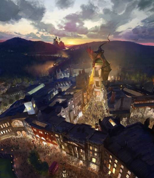 The Wizarding World of Harry Potter  Diagon Alley RenderingLR