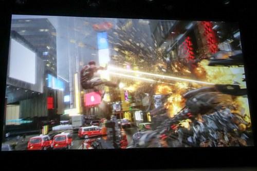 ライド映像の一部。そこにハイドラのロボットが襲いかかる