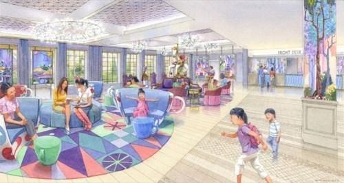 東京ディズニーセレブレーションホテル ロビーのイメージ (c)Disney