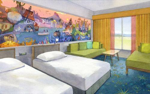 東京ディズニーセレブレーションホテル:ディスカバー 客室のイメージ (c)Disney