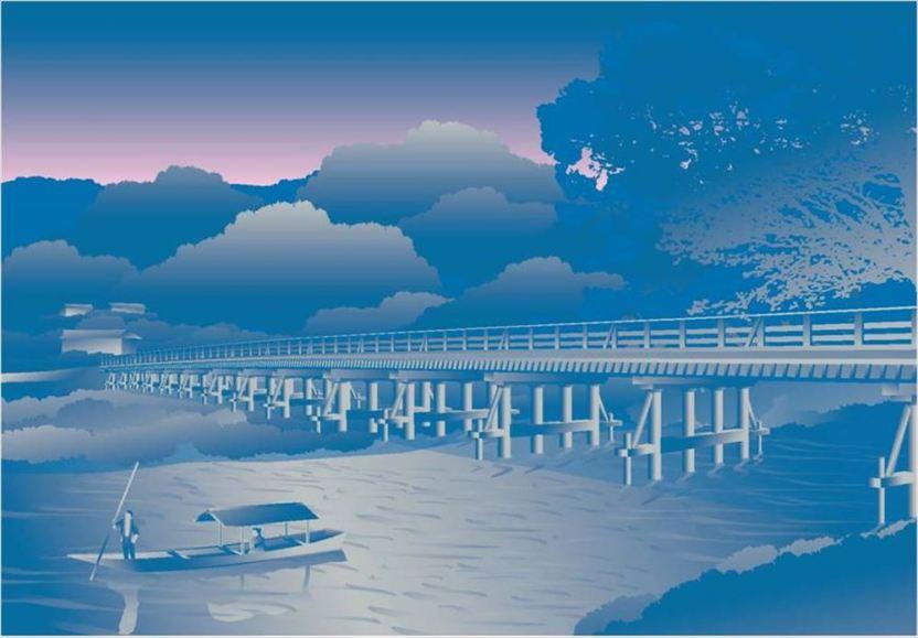「渡月橋」 (c)Disney