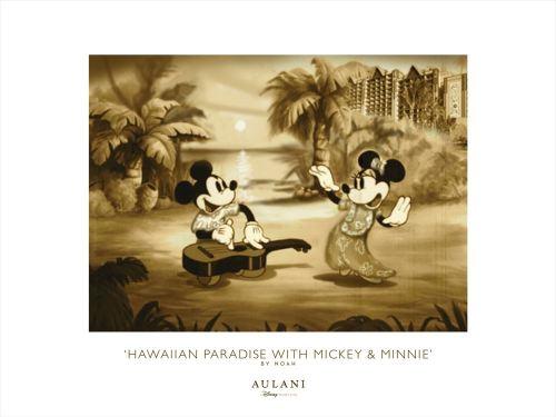 限定アウラニアート「ハワイアン・パラダイス ミッキー&ミニー」(非売品) As to Disney artwork, logos and properties:©Disney