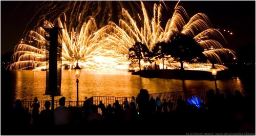 Light the Night: Spectacular fireworks synchronized to a symphonic score burst above Epcot's World Showcase Lagoon during IllumiNations: Reflections of Earth. Lasers, a revolving Earth globe and leaping flames co-star in the spectacle, which features a special finale on the Fourth of July. (Garth Vaughan ,Photographer)
