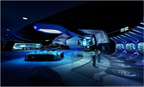 Interior of TRON Realm, Chevrolet Digital Challenge (c)Disney