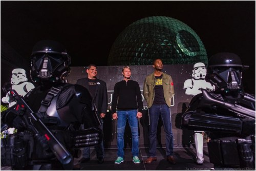 Actor Mads Mikkelsen makes a special appearance at Walt Disney World Resort on Dec. 5, 2016, as the iconic Spaceship Earth transforms into the dreaded Death Star from Star Wars. Mikkelsen plays Galen Erso in