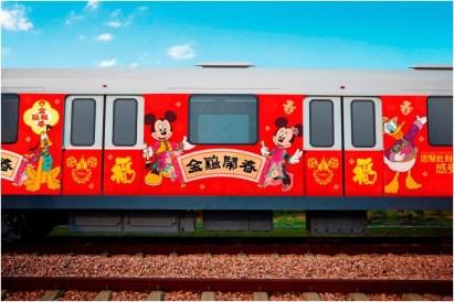 Chinese New Year Celebration Themed Metro Trains Rendering 4 (c)Disney
