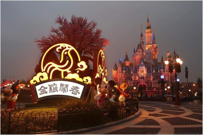 Shanghai Disneyland welcomes the Year of the Rooster with auspicious and festive decorations 1 (c)Disney