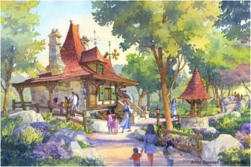「美女と野獣エリア(仮称)」の街並み  (c)Disney