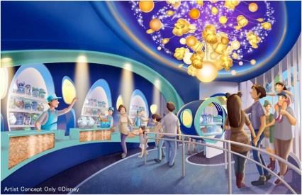 ポップコーンの専門ショップの内観 (c)Disney