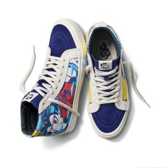 "Licensee: Vault by Vans MSRP: $78-$100 Description: To celebrate the optimistic attitude and loveable nature of Mickey Mouse on his birthday, Vault by Vans and Disney collaborate with four iconic artists – John Van Hamersveld, Mr. Cartoon, Geoff McFetridge and Taka Hayashi, to create one-of-a-kind artwork featuring the beloved Disney ""True Original."" Availability: 8/20 Retailers: Select Vault by Vans accounts"