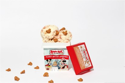 Licensee: Ample Hills MSRP: Description: In honor of Mickey's 90th Anniversary this year, Ample Hills Creamery has created a timeless flavor inspired by everyone's favorite growing up—peanut butter and jelly sandwiches! A smooth vanilla bean ice cream is mixed with chunks of strawberry cake, swirls of peanut butter frosting and Mickey-shaped peanut butter pieces packed with house-made strawberry jam. Availability: 8/20 Retailers: Available for pre-order via http://www.amplehills.com starting September 1. The flavors will also be found at Ample Hills store locations, select Whole Foods and specialty retailers across the Northeast beginning October 1