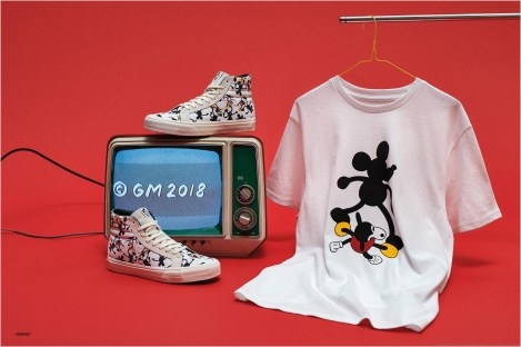 """Licensee: Vault by Vans MSRP: $78-$100 Description: To celebrate the optimistic attitude and loveable nature of Mickey Mouse on his birthday, Vault by Vans and Disney collaborate with four iconic artists – John Van Hamersveld, Mr. Cartoon, Geoff McFetridge and Taka Hayashi, to create one-of-a-kind artwork featuring the beloved Disney """"True Original."""" Availability: 8/20 Retailers: Select Vault by Vans accounts"""