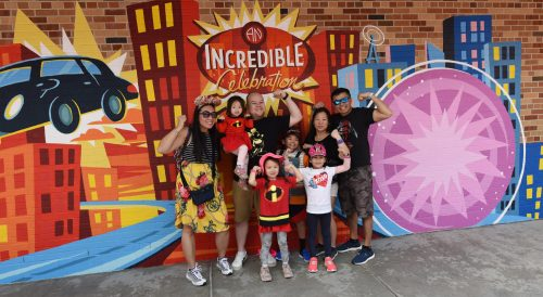 Guests showcase their Super side during An Incredible Celebration in Pixar Place at Disney's Hollywod Studios at Walt Disney World Resort in Lake Buena Vista, Fla.